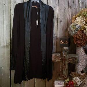 NWTS Classy Elegant Black Slinky Sweater JACKET